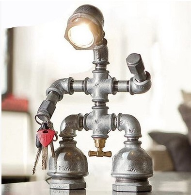 Vintage Pipe LED Table Lamp In Loft Industrial Style Table Lamps For Bedroom Living Room,Abajur Lamparas De Mesa america water pipe table lamp in loft industrial style led table lamps for bedroom living room abajur lamparas de mesa