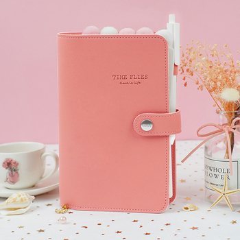 Macaron leather spiral notebook Original office personal diary/week planner/agenda organizer Cute ring stationery binder A5 A6 personal organizer leather business ring office binder notebook cute kawaii agenda planner 2019 travel journal a6