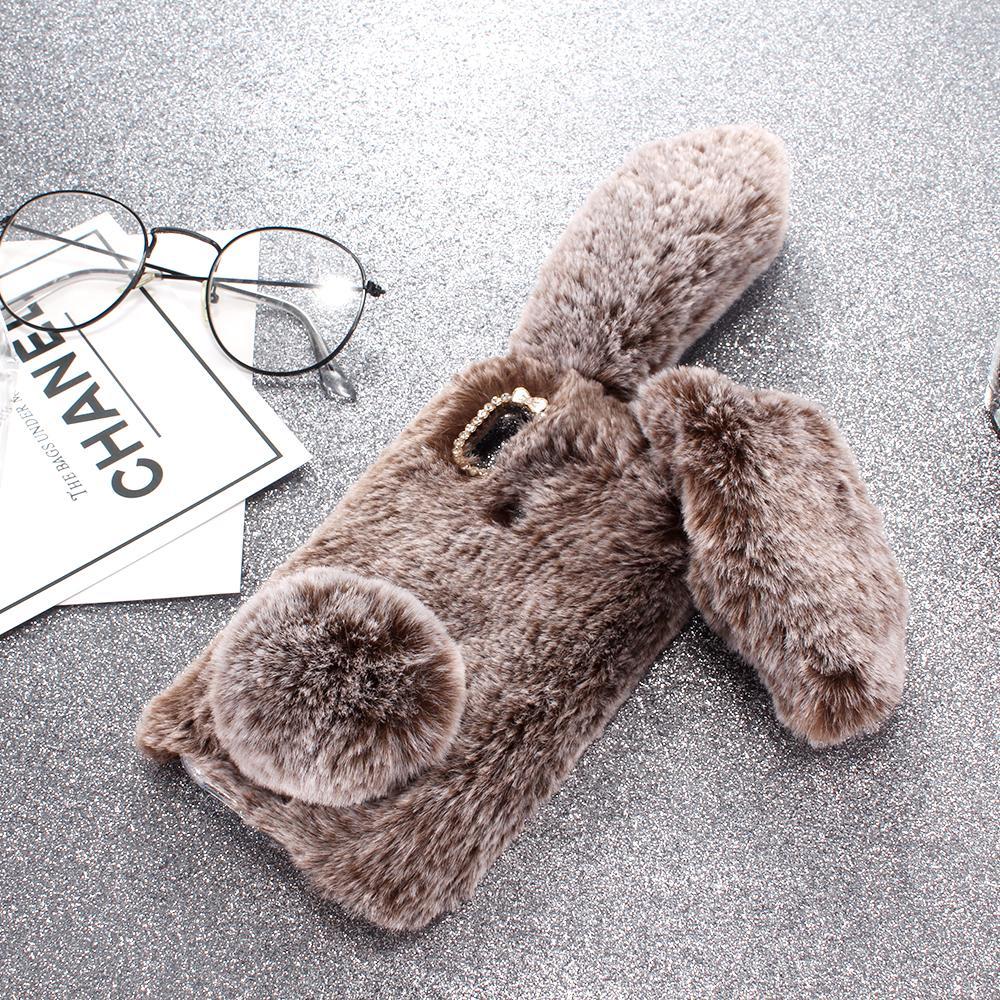 HTB13BzXXOHrK1Rjy0Flq6AsaFXaF Rabbit Fur P Smart 2019 Cases For Huawei P20 Pro Plus P10 Lite P8 Lite 2017 P9 Mini GR3 Nova 3 3I 3E 2S 2i 2 4 P30 Lite Z Covers