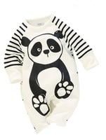100 Cotton Baby Boys Girls Long Sleeve Romper Stripe Panda Jumpsuit Clothes Newborn Infant Baby Clothing