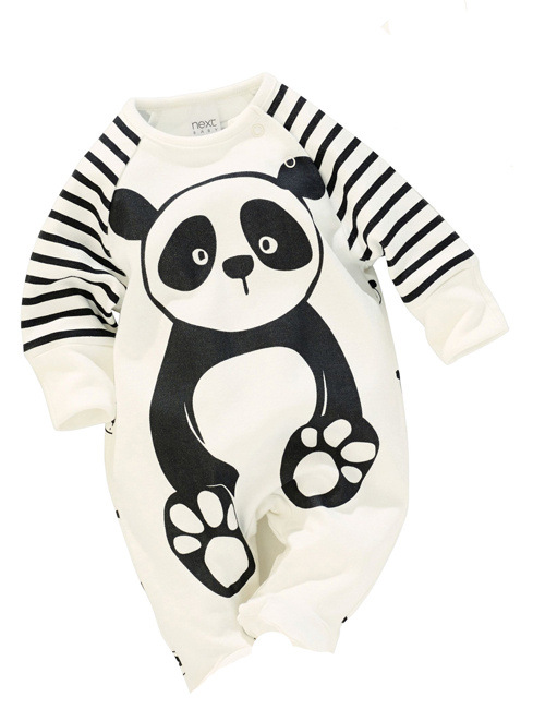 100% Cotton Baby Boys Girls Long sleeve Romper stripe panda jumpsuit clothes newborn infant baby clothing Christmas gift newborn infant baby girls boys long sleeve clothing 3d ear romper cotton jumpsuit playsuit bunny outfits one piecer clothes kid