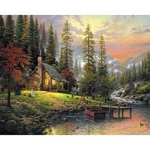 Full Square Diamond 5D DIY  Painting Autumn scenery Embroidery Cross Stitch Rhinestone Mosaic  Decor Gift цена