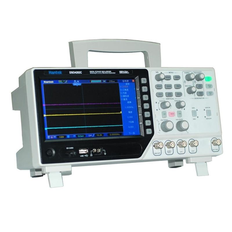 все цены на Hantek DSO4202C 2CH 200MHz Digital Storage Oscilloscope with 1Channel Arbitrary/Function Waveform Generator Factory direct sales онлайн