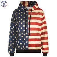 Mr 1991INC New Fashion Men Sweatshirt 3d Print Striped Stars USA Flag Casual Hooded Hoodies With