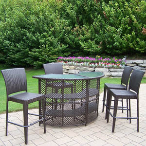 2017 Best Selling Patio Furniture Wicker High Bar Tables