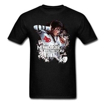 마이클 잭슨 보이 티셔츠 홈웨어 일반 루스 티셔츠 남성 여름 코튼 티셔츠 십대 최신 유니크 오버 사이즈 쿨 탑스