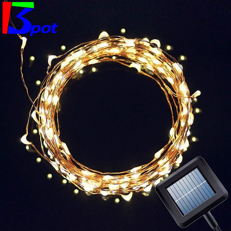 Led Garland String Lights : Solar Holiday LED Garlands String Lights 5M 50 led Solar copper wire light Outdoor waterproof ...