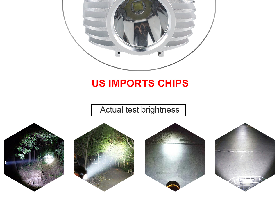 AcooSun 15W Motorcycle Spotlights Auxiliary Lamp Bright 1500LM Led Chip Motobike Headlights Accessories Moto Car Work Fog Light (3)