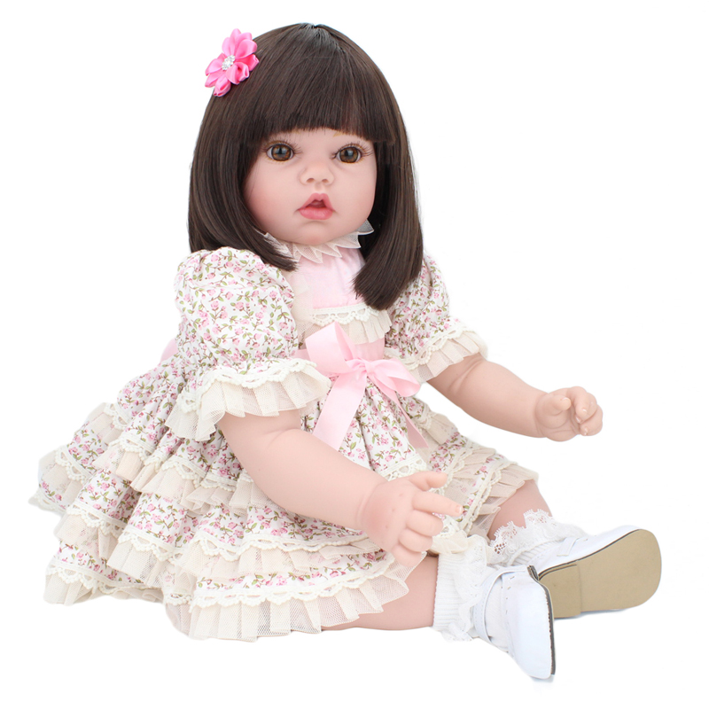 20 Inches 50cm Silicone Reborn Baby Doll Cute Toys for Kids Birthday Gift Play House Toy with Skirt Christmas Presents for Girl20 Inches 50cm Silicone Reborn Baby Doll Cute Toys for Kids Birthday Gift Play House Toy with Skirt Christmas Presents for Girl