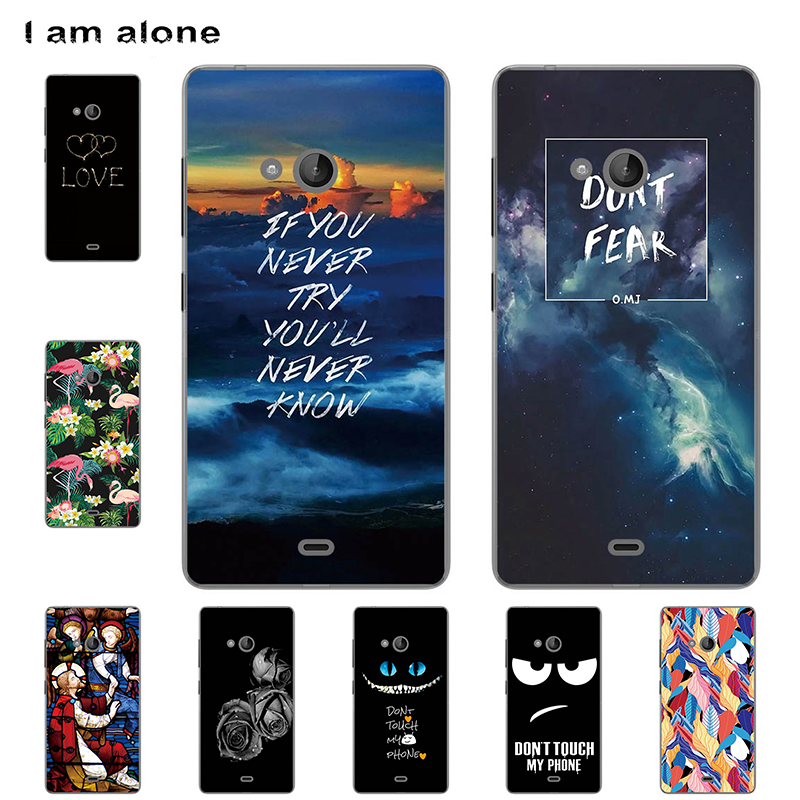 I am alone Phone Cases For Microsoft Nokia Lumia 540 5.0 inch Black Soft TPU Fas