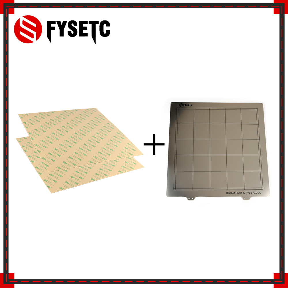 Plaque de construction d'impression 3D de plate-forme de lit de chaleur de tôle d'acier de ressort 300*300mm + 2X feuille de PEI pour Anet E12 TEVO Tornado Lulzbot