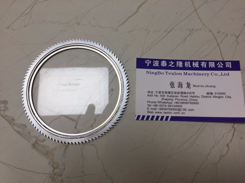 DaKong 3 3/4 108 Needles Socks Machine Use Saw Cutter 3 3/4X12TX100Teeth