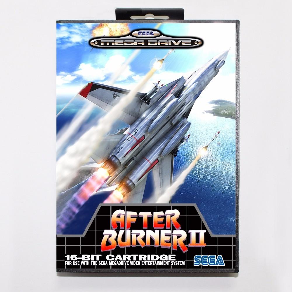 After Burner 2 Game Cartridge 16 bit MD Game Card With Retail Box For Sega Mega Drive For Genesis