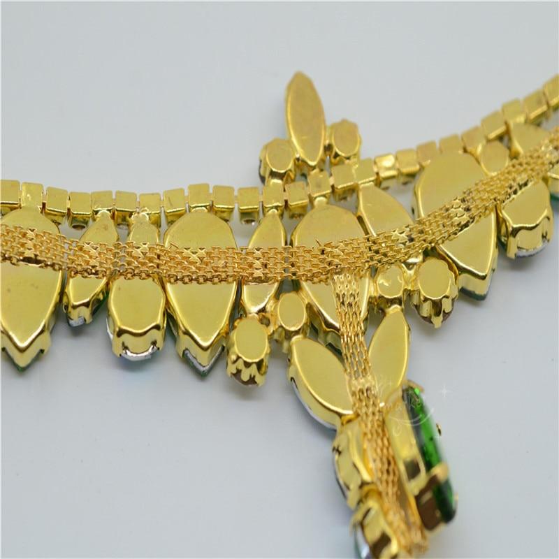 1 gab. Šujiet uz Rhinestone Appliques kāzu kleitas zelta pamatnes - Māksla, amatniecība un šūšana - Foto 6