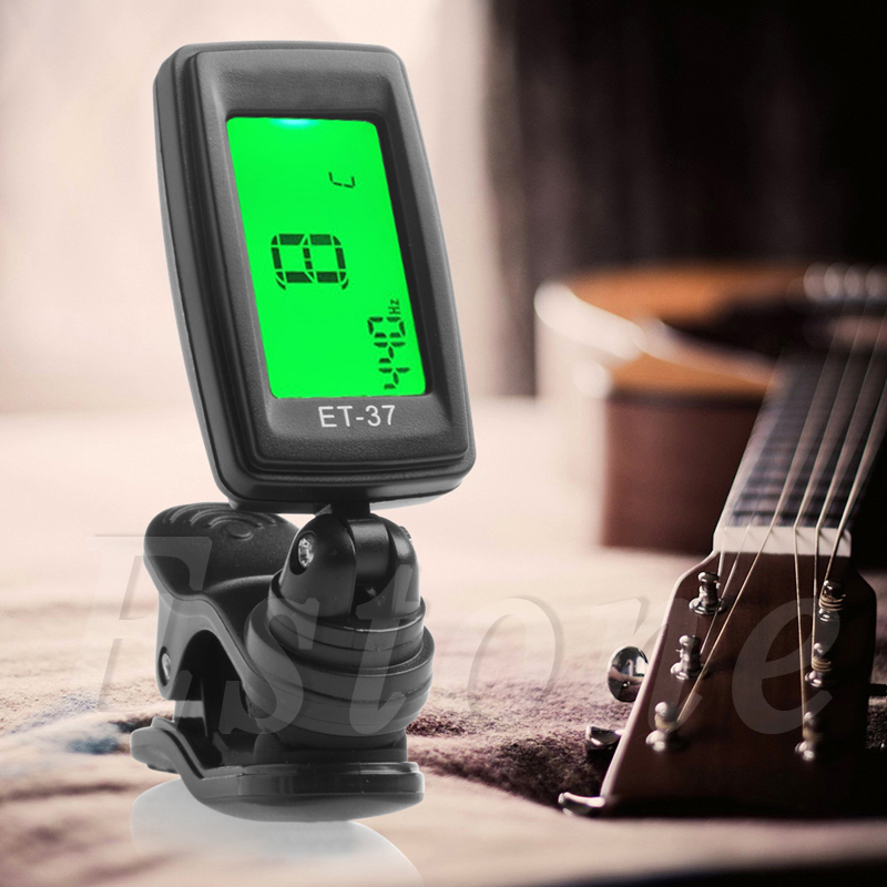 1Pc Digital Guitar Parts LCD Chromatic Electric Guitar Clip On Tuner Acoustic Bass Violin Ukulele lt 33 electronic piezo clip on chromatic tuner guitar bass ukulele violin chromatic tuner for musical instrument accessories