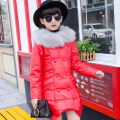Girl Winter Jacket Down Coats 2016 New Fashion Hooded Warm Thick Children Outerwear Kids Jackets for Girls Outdoors Overcoat