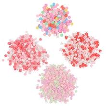 Glina polimerowa 20g około 2000pc cukierki gwiazda kwiaty Snowflake żywica epoksydowa żywica tworzenie form biżuteria wypełnienie dla DIY biżuteria