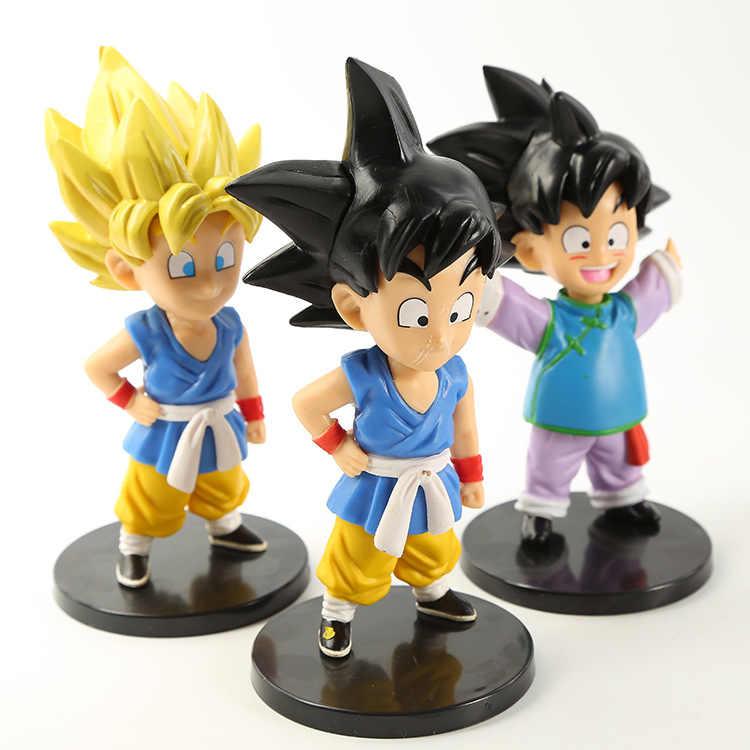 7 pçs/lote Crianças meninos Dragon Ball Figuras de Ação boneca de vinil decorativo decoração 10.5-13 cm WJ01