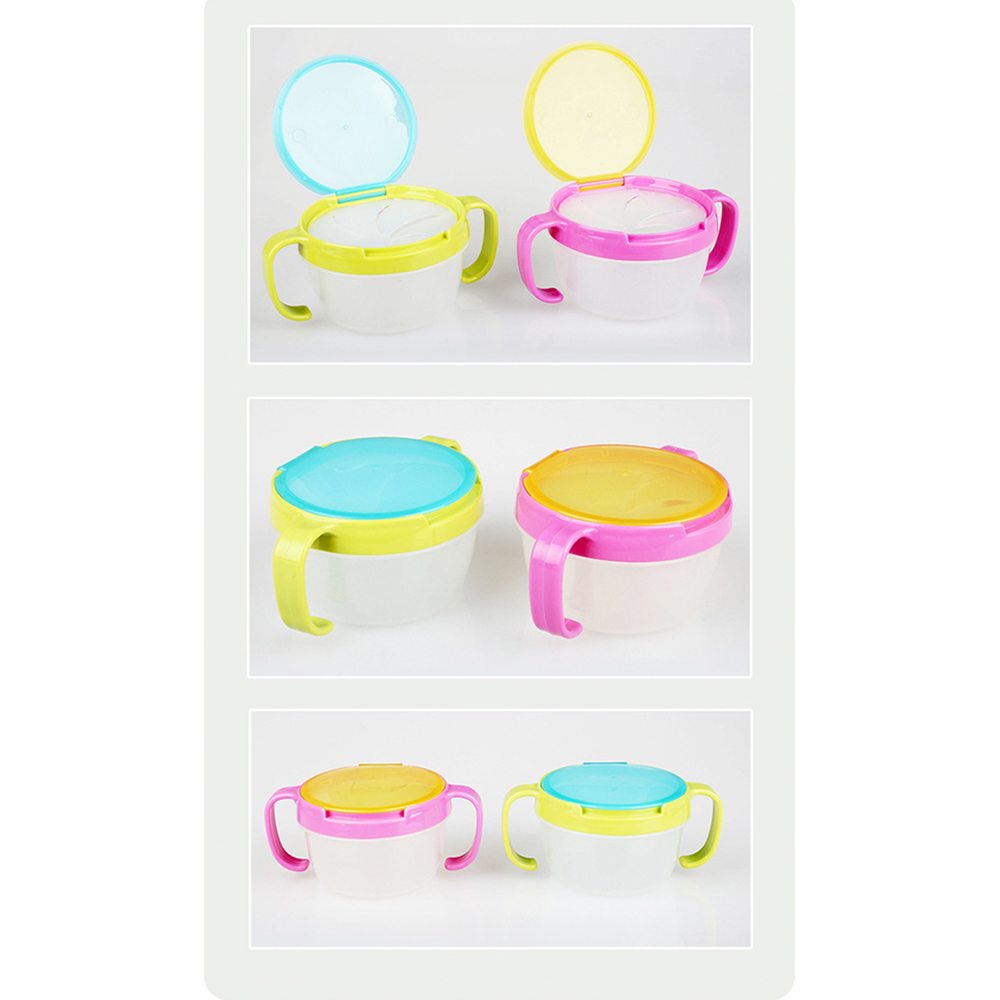 1 Pc Baby Kid 360 Rotate Spill-Proof Bowl Dishes Tableware Snack Bowl Food Container Hot Leakproof Lunch Box Tableware Kitchen