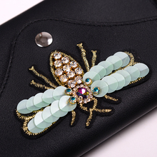 Women Leather Fashion Belt Bags Bee Pouch Bag