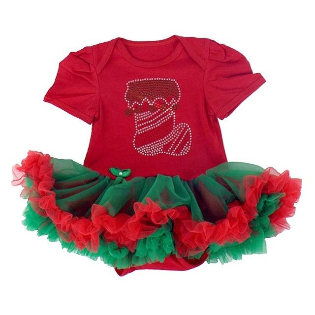 Красный Новорожденный Ребенок Девушка Платье Рождество Детские Костюмы Одеяние Vestido Infantil Bebe Кружева Девочек Платья Младенческой Одежда Рождественский Подарок