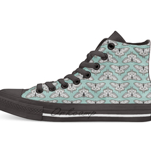 Luna Moth botanical nature woodland butterfly moth andrea lauren Casual High Top