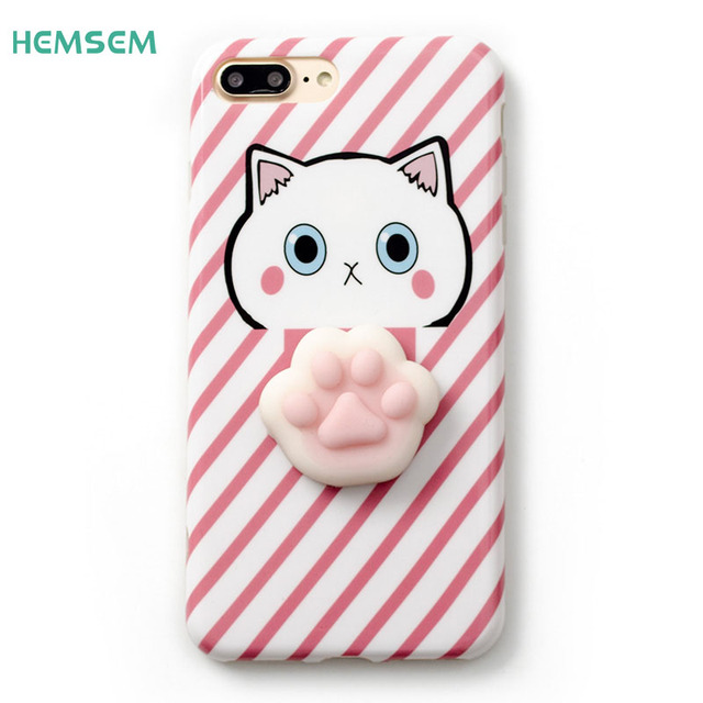 the best attitude 8c33c 80922 US $2.65 |6 Plus Squishy DIY Phone Case 3D Cute Soft Silicone Japan Cartoon  Q Squishy Cove for iPhone 6 Plus Cute Cat Lovely Panda on Case-in ...