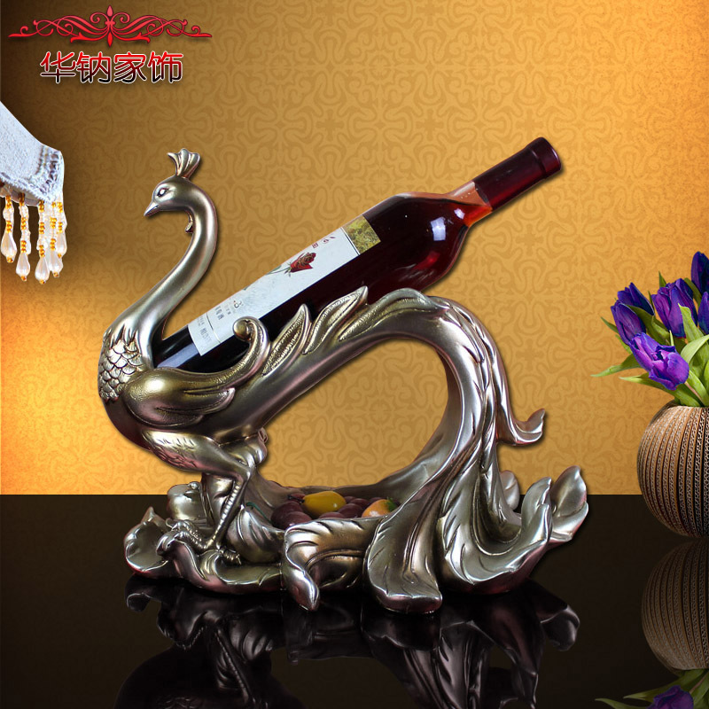 2016 Direct Selling Home Decoration Accessories Classical Resin Crafts Phoenix Multipurpose Fruit Wine Rack Ktv Practical Hotel