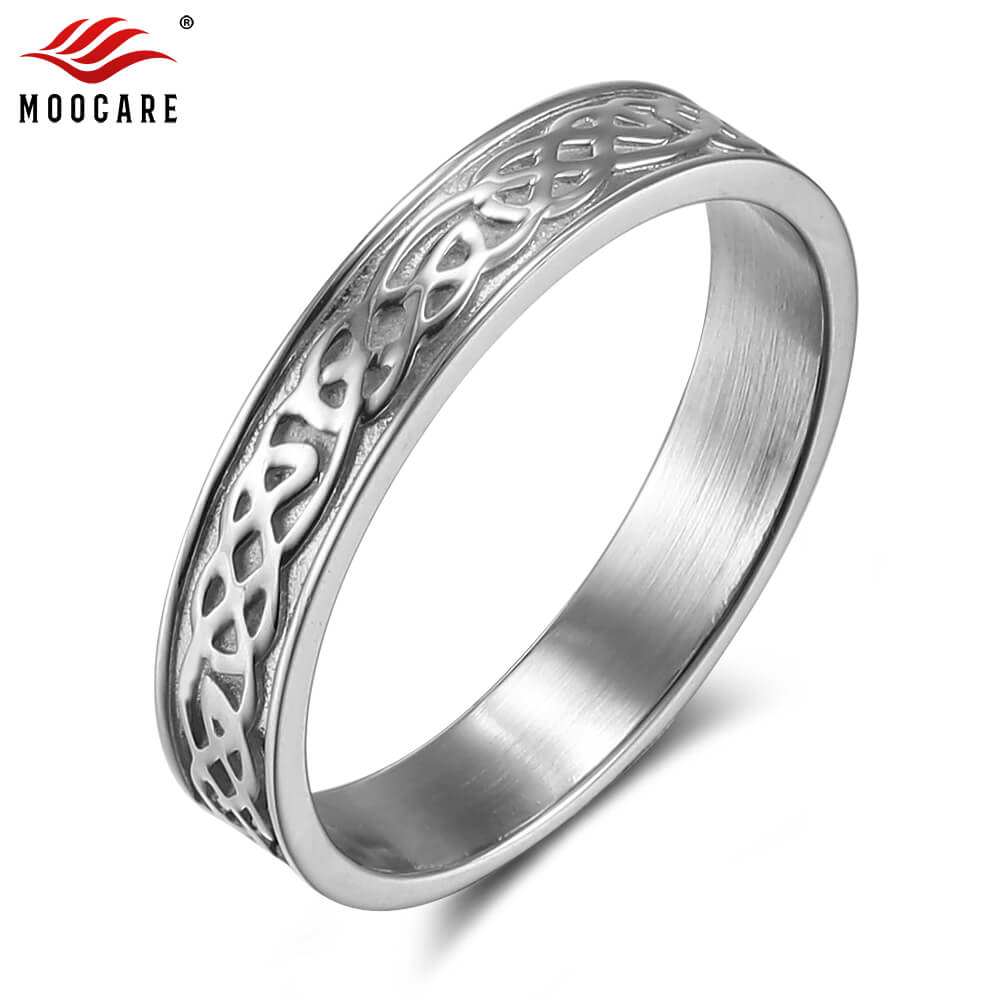 Stainless Steel Anodized Tribal Wing Flat Band Ring