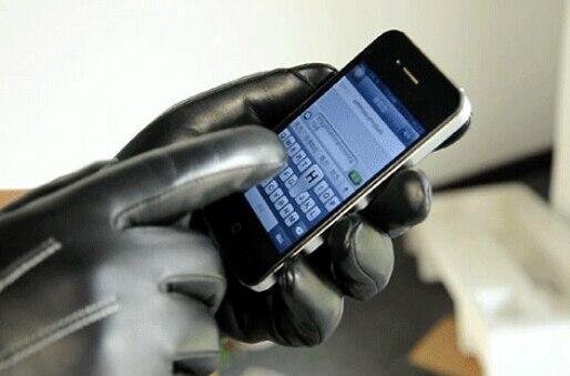 Écran Gants Pour Hommes 100% En Cuir Véritable Gant Pour Smart téléphone XL L M
