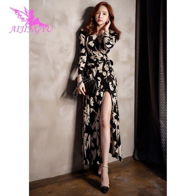 AIJINGYU вечернее платье вечерние платье 2018 Для женщин Элегантные Формальные особых поводов для выпускного платья модные платья FK344