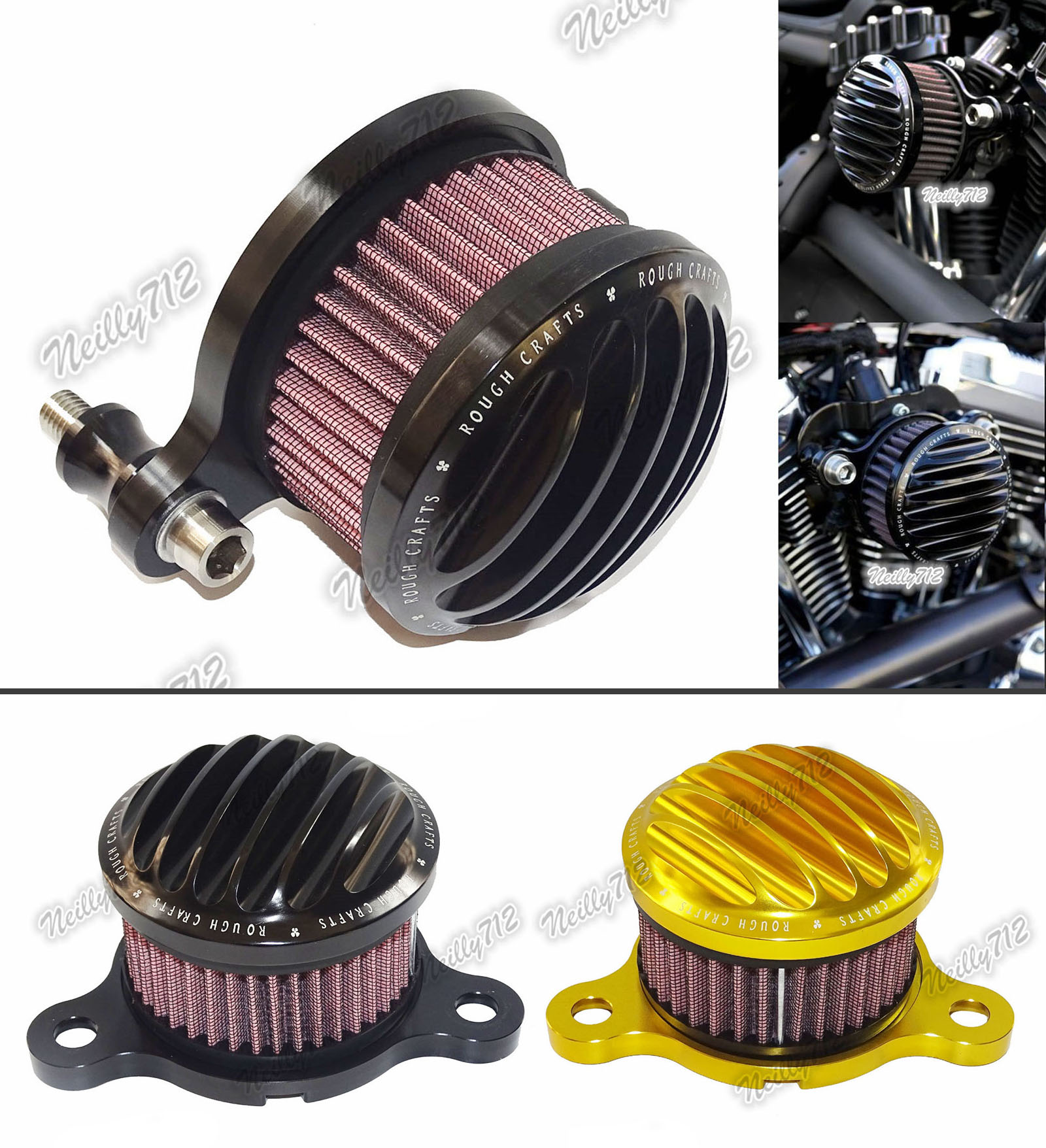 Motorcycle CNC Air Cleaner Intake Filter System Black For 2004 2005 2006 2007 2008-2015 Harley Davidson Sportster XL 883 1200 black cnc cut air cleaner trim cover for harley iron 883 sportster xl883r xl1200