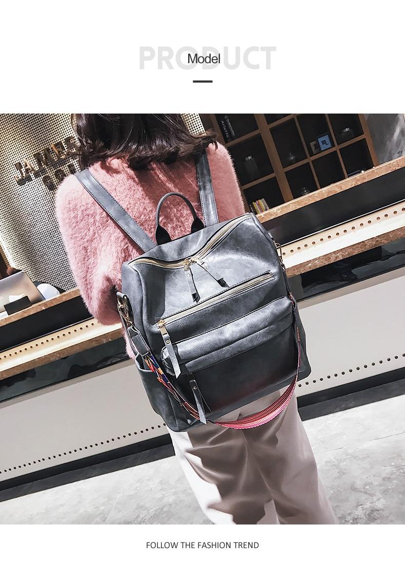 HTB13C1oatzvK1RkSnfoq6zMwVXa7 Retro Large Backpack Women PU Leather Rucksack Women's Knapsack Travel Backpacks Shoulder School Bags Mochila Back Pack XA96H