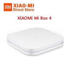 النسخة الصينية الجديدة Xiao mi mi Box 4 الذكية بلوتوث 4.1 التحكم الصوتي أندرويد TV فك التشفير 2GB RAM + 8GB ROM 2.4G واي فاي 4K HDR