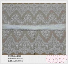 New Spun Lace Non wove Fabric 3 Yards Off White full lace cotton Lace Fabric For DIY Dress swiss voile lace front wig fabric cheap 150 CM LA49 Embroidered Eco-Friendly Mesh 100 Polyester