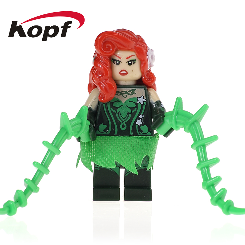 Single Sale Super Heroes Movie Poison Ivy Harley Quinn Catwoman Robin Batman Building Blocks Children Christmas Gift Toys PG102