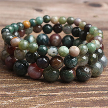 Ling Xiang 4/6/8/10/12mm fashion Jewelry ndian onyx stone beads bracelet be fit for Glamour rmen and women send Gifts and amulet natural quality goods color ice stone bracelet send certificates send jewelry box