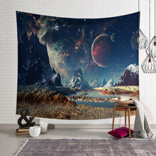 3D Galaxy Psychedelic Tapestry Wall Hanging Planet Space Art Polyester Cloth Hippie Decoration Beach Towel