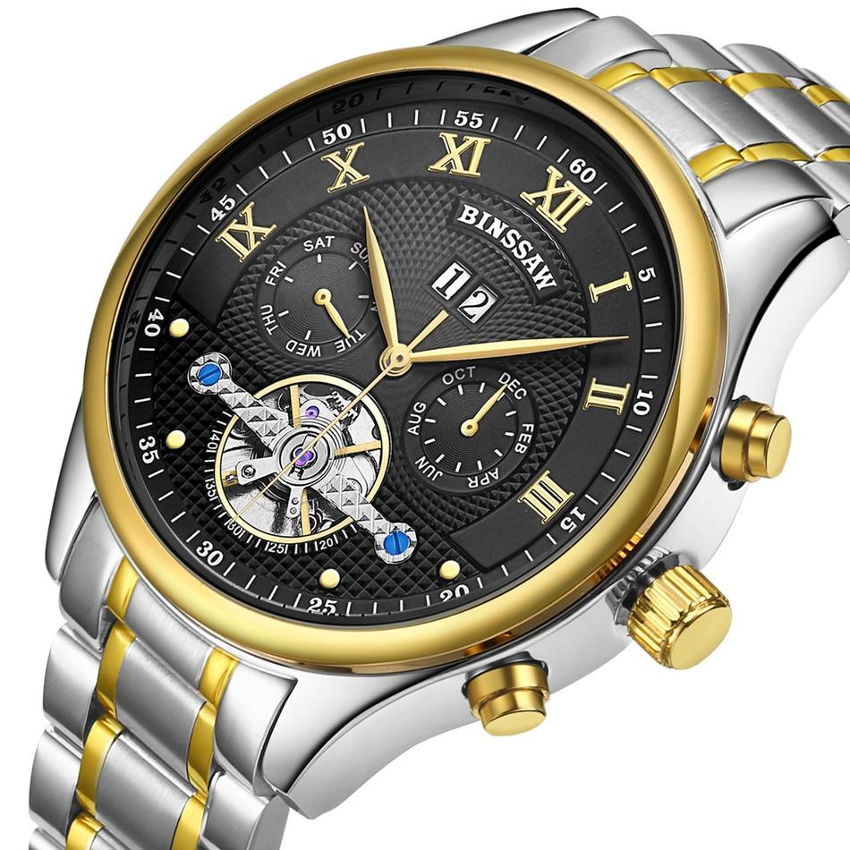 BINSSAW Marca de lujo Tourbillon Hombres Relojes deportivos - Relojes para hombres - foto 4