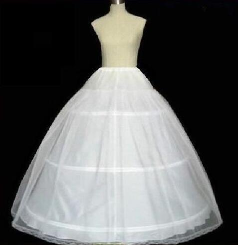 2017 Hot sale 3 HOOPS Ball Gown BONE FULL CRINOLINE PETTICOAT WEDDING SKIRT SLIP NEW H-3