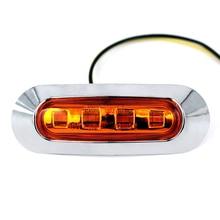 10 шт. 2 Вт 50000 часов жизни Янтарный SMD светодио дный Боковой габаритный фонарь автомобиль Прицеп