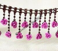 90 cm/pack 4 센치메터 블랙 레드 핑크 블루 꽃 크리스탈 라인 석 체인 긴