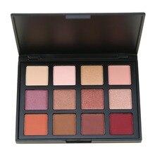 12 Color Shimmer Naturaleza Brillo Paleta de Sombra de ojos Portátil Cosméticos de Maquillaje Nude Eye Shadow powder Set Maquillaje Resistente Al Agua