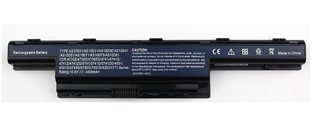 Laptop battery For Acer AS10D31 AS10D3E AS10D41 AS10D51 AS10D61 AS10D71 AS10D73 AS10D75 AS10D81 31CR19/65-2 31CR19/652 4400mAh