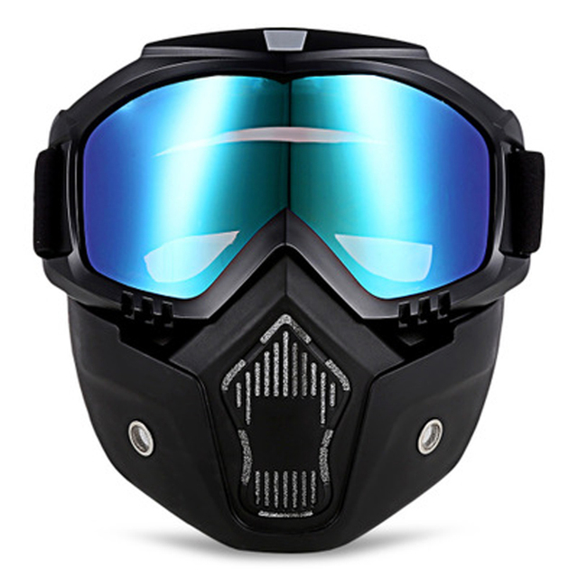 8899767f90a Face Masks Motorcycle Mirror Mask Retro Racing Goggles Tactical Spectacles Outdoor  Sports Sand Prevention Glasses