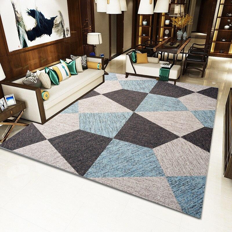 Moderne minimaliste salon tapis nordique ins motif géométrique tapis de sol maison tapis salon sol tapis - 3