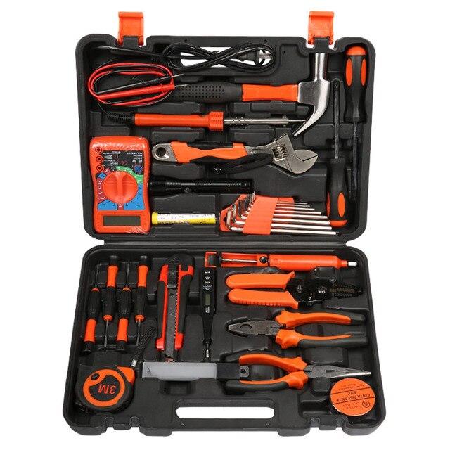 Electrician kit household hardware toolbox multimeter screwdriver ...