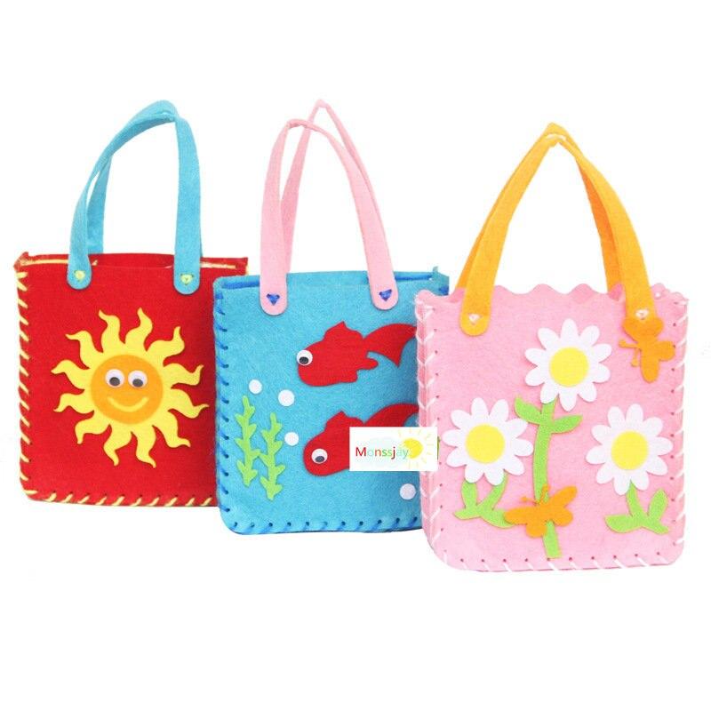 1pcs Non woven material package bag handmade creative
