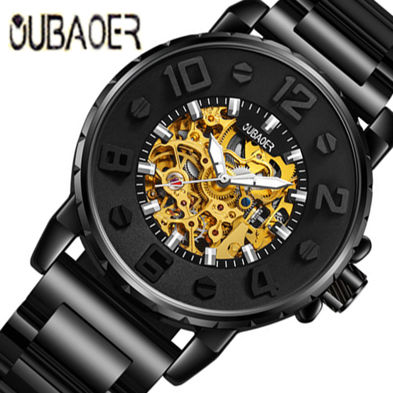 OUBAOER Fashion Top Brand Luxury Men's Watches Men Casual Military Business Clock Male Clocks Sport Mechanical Wrist Watch Men forsining top brand luxury men s wrist watch men military sport clock hand wind mechanical watches male business skeleton clocks