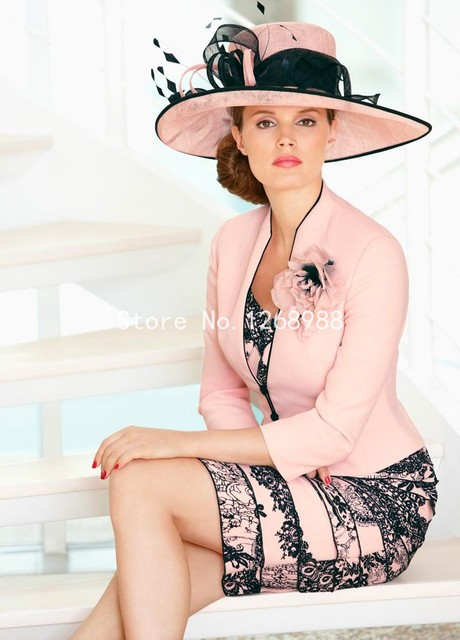 New 2015 Bridal Pink And Black Lace Cocktail Dress New Arrival ...